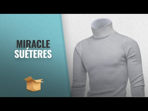 Miracle 2018 Mejores Ventas: Miracle Mens Lightweight Slim Fit Turtleneck Long Sleeve Solid Knitted