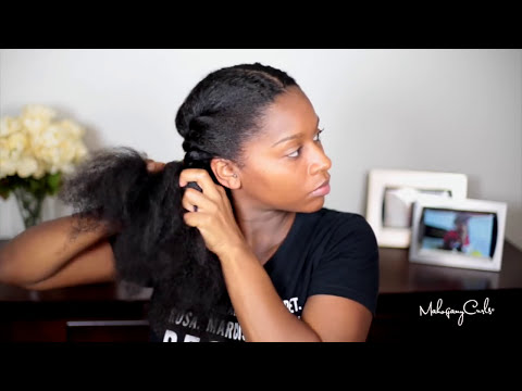 SheaMoisture Smooth and Repair Blow Out Cream Tutorial