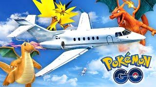 Pokemon GO - CATCHING POKEMON ON A PLANE!