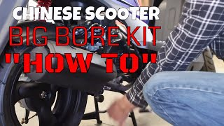 8. Chinese scooter big bore kit install