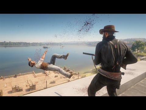 Red Dead Redemption 2 PC 60FPS - Funny & Brutal Moments Vol. 59 (Euphoria Ragdolls)