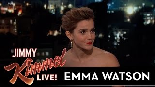 Video Emma Watson on Being Hit with Snowballs & Meeting Idol Celine Dion MP3, 3GP, MP4, WEBM, AVI, FLV Oktober 2017