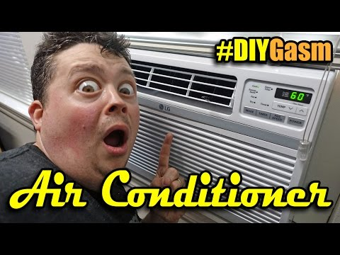 How to install large window Air Conditioner - #DIYGasm