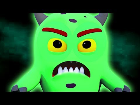GRUMPY MONSTER Learns Head Shoulders Knees & Toes | Nursery Rhymes & Baby Songs | All Babies Channel