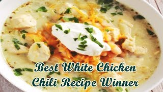 Best White Chicken Chili Recipe Winner - Quick and Easy Recipes for breakfast, lunch and dinner. Find easy to make food...