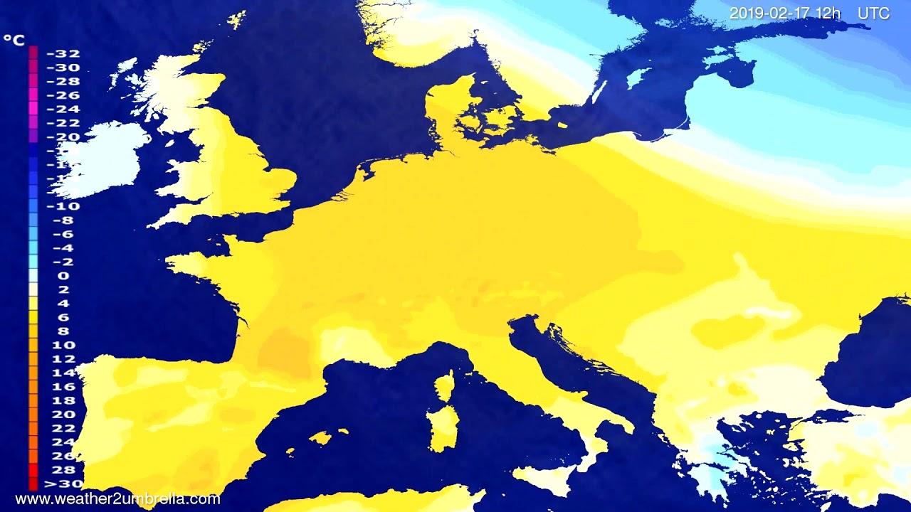 Temperature forecast Europe 2019-02-15