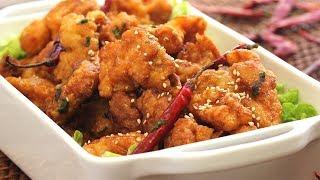 La versión fácil y rápida del pollo agridulce chino capeado y frito. Listo de principio a fin en menos de una hora. Encuentra la receta completa en Allrecipes México: http://allrecipes.com.mx/receta/12371/pollo-agridulce-chino.aspx