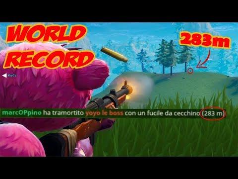 LONGEST HUNTING RIFLE SHOT EVER RECORDED ON FORTNITE! NEW WORLD RECORD! FORTNITE BEST MOMENTS!