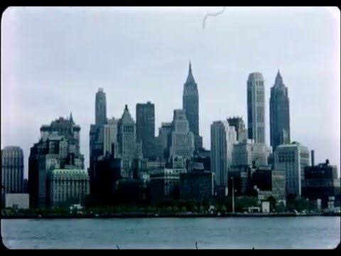 Visit New York In 1957 - A Tourists HD Home Movies