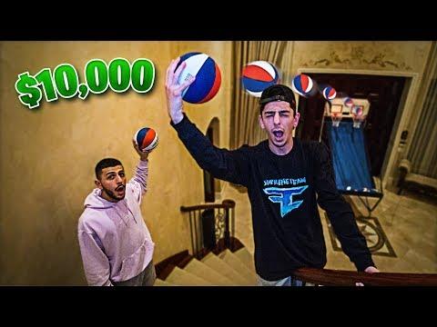 BEST TRICKSHOT WINS $10,000 - Basketball Challenge