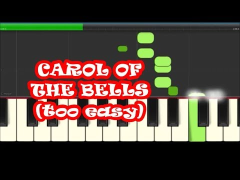 Carol Of The Bell Christmas Piano Tutorial - Slow, Easy, Right Hand