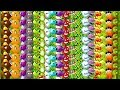 Every Plant Max Level  All Tiles Power Up Primal Plants Vs Zombies 2 Ultimate Power Pvz 2