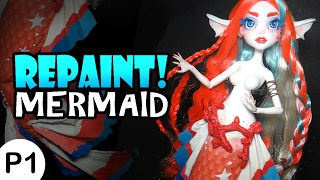 Video Repaint! -PART 1- Poseable Mermaid Cora Tail and Body Mods MP3, 3GP, MP4, WEBM, AVI, FLV Juni 2019