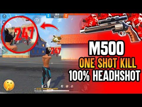 TRIK RAHASIA 1 HIT HEADSHOT M500 FREE FIRE