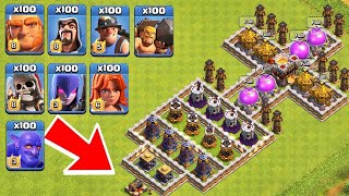 Who Can Survive This Difficult Trap On COC Trap VS Troops 11