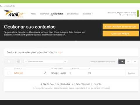 Como importar contactos en Mailjet