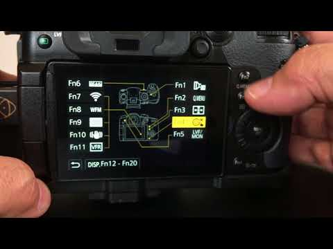 GH5 Setup for Operation Lock to dissable the DISP  Button