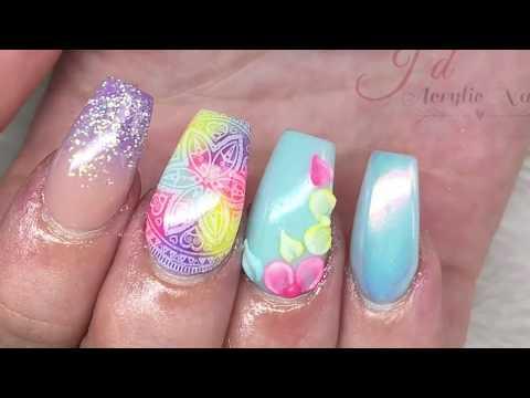 Festival Design  Acrylic Nails