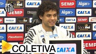 Confira como foi a coletiva de imprensa do lateral Victor FerrazInscreva-se na Santos TV e fique por dentro de todas as novidades do Santos e de seus ídolos! http://bit.ly/146NHFUConheça o site oficial do Santos FC: www.santosfc.com.brCurta nossa página no facebook: http://on.fb.me/hmRWEqSiga-nos no Instagram: http://bit.ly/1Gm9RCSSiga-nos no twitter: http://bit.ly/YC1k82Siga-nos no Google+: http://bit.ly/WxnwF8Veja nossas fotos no flickr: http://bit.ly/cnD21USobre a Santos TV: A Santos TV é o canal oficial do Santos Futebol Clube. Esteja com os seus ídolos em todos os momentos. Aqui você pode assistir aos bastidores das partidas, aos gols, transmissões ao vivo, dribles, aprender sobre o funcionamento do clube, assistir a vídeos exclusivos, relembrar momentos históricos da história com Pelé, Pepe, e grandes nomes que só o Santos poderia ter.Inscreva-se agora e não perca mais nenhum vídeo! www.youtube.com/santostvoficial-------------------------------------------------------------** Subscribe now and stay connected to Santos FC and your idols everyday!http://bit.ly/146NHFUVisit Santos FC official website: www.santosfc.com.brLike us on facebook: http://on.fb.me/hmRWEqFollow us on Instagram: http://bit.ly/1Gm9RCSFollow us on twitter: http://bit.ly/YC1k82Follow us on Google+: http://bit.ly/WxnwF8See our photos on flickr: http://bit.ly/cnD21UAbout Santos TV: Santos TV is the official Santos FC channel. Here you can be with your idols all the time. Watch behind the scenes, goals, live broadcasts, hability skills, learn how the club works, exclusive videos, remember historical moments with Pelé, Pepe and all of the awesome players that just Santos FC could have. Subscribe now and never miss a video again! www.youtube.com/santostvoficial