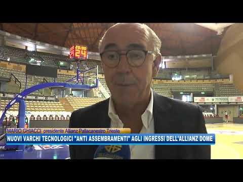 16/09/2020 - NUOVI VARCHI TECNOLOGICI 'ANTI ASSEMBRAMENTI' AGLI INGRESSI DELL'ALLIANZ DOME
