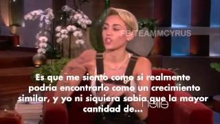 Miley habla sobre el fin de su relación con Liam, en una entrevista con Ellen DeGeneres (TRADUCIDA).