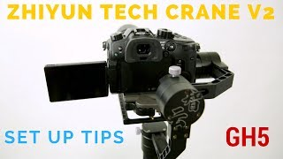 Zhiyun Tech Crane V2 How To Set Up And Tips  Zhiyun Tech Crane 3 axis gimbal and the Panasonic GH5 balance tutorial... In this video I show you how to set up and balance the Zhiyun Tech Crane version 2 and I also share a few tips you'll want to know. These tips will save you a ton of time so make sure you check out this video.Additional gear: Manfrotto Pixie Tripod and the Manfrotto 323 Quick Release plate. Essential gear for balancing the Zhiyun Tech Crane V2 and the Panasonic Gh5.Get Your 5 FREE Retouching Actions:  http://shutterslam.com/freeSubscribe to my YouTube Channel: https://goo.gl/0AyD4uRecommended Gear: https://shutterslam.com/blog/camera-gear/Online Digital Photography Courses: https://shutterslam.com/coursesCapture One Pro 10 Discount Code: AMBCRAIG——————————————————————————————Follow Me On Social Media...Facebook: https://www.facebook.com/CraigbecktaphotographyInstagram: https://instagram.com/craigbecktaTwitter: https://twitter.com/craigbeckta500 PX: https://500px.com/craigbecktahttps://www.youtube.com/user/CraigBecktaPortrait Photography and Portrait Retouching tutorials as well as camera and lens gear reviews.