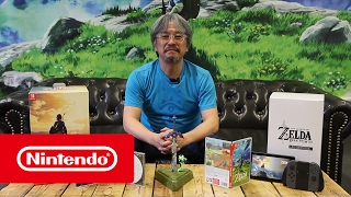 Eiji Aonuma Shares Unboxing of Breath of the Wild Limited Edition