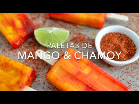 Para este calor prepara paletas de mango con chamoy