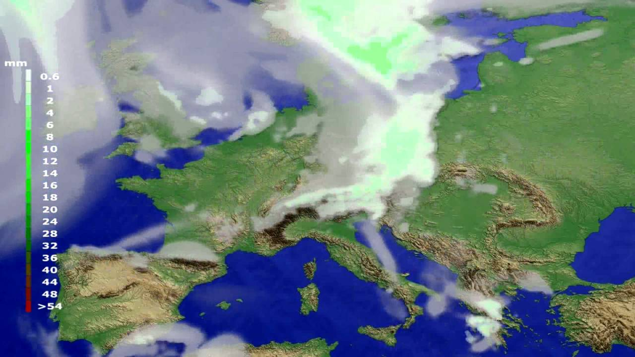 Precipitation forecast Europe 2016-06-22