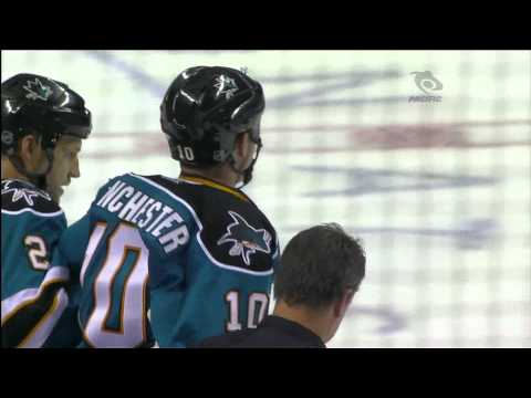 Volpatti KO's Winchester - Canucks Vs Sharks - 2011 Pre-Season - 09.29.11 - HD      - YouTube