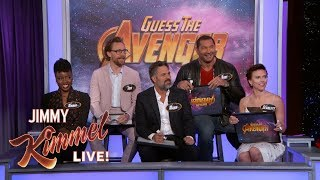Video The Cast of Infinity War Plays 'Guess the Avenger' MP3, 3GP, MP4, WEBM, AVI, FLV September 2018