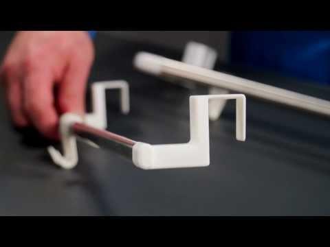 Видео Вешалки и крючки на кухню Tescoma Подвесная вешалка OCTOPUS 35 см, 2 крючка Tescoma 899660