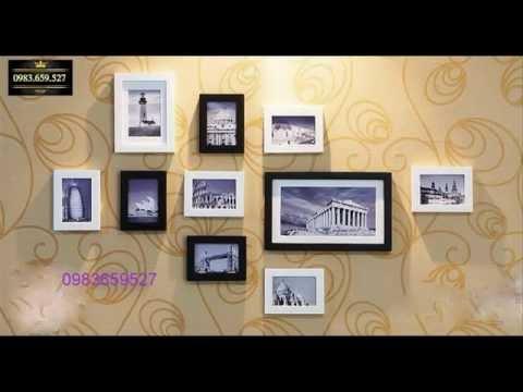 Trang trí phòng khách với những khung ảnh treo tường cao cấp