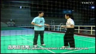 [Clip 20]Đập cầu đánh trả từ giữa sân, phòng thủ thuận tay cuối sân