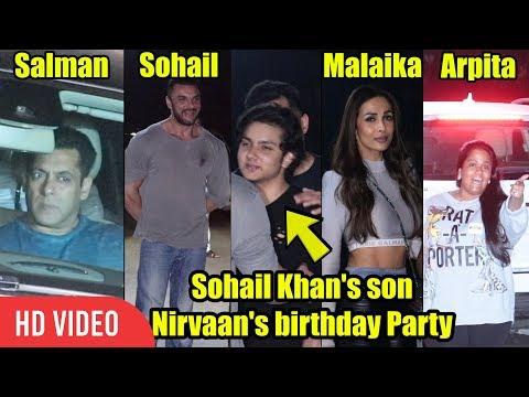 FULL NIGHT GRAND PARTY 💃🚶 | Sohail Khan's Son Nirvaan's Birthday | Salman, Malaika, Sonakshi