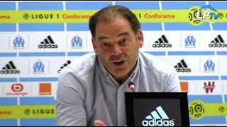 L'entraineur d'Angers Stéphane Moulin explique que c'était le bon moment pour prendre l'OM après le match joué jeudi en...