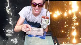Pouring Molten Metals Into Water Is Awesome