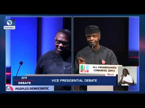 Download Vice-Presidential Debate Pt.8: Peter Obi, Osinbajo Disagree Over Subsidy On Petroleum Products