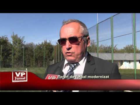 Teren de fotbal modernizat