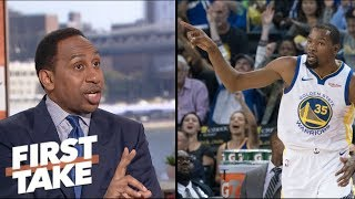 Stephen A. doubts Kevin Durant will be 'open and honest' about 2019 free agency | First Take | ESPN