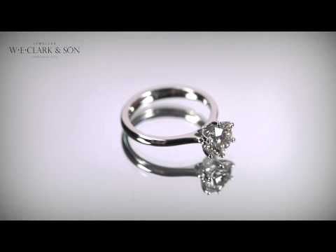 W E  Clark & Son   Single Stone Diamond Ring