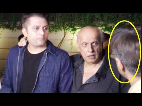 ANGRY Mahesh Bhatt FIGHTS With A Reporter At The S