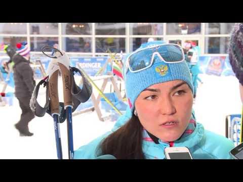 Татьяна Акимова после женского спринта на 5-м этапе Кубка мира по биатлону в Рупольдинге