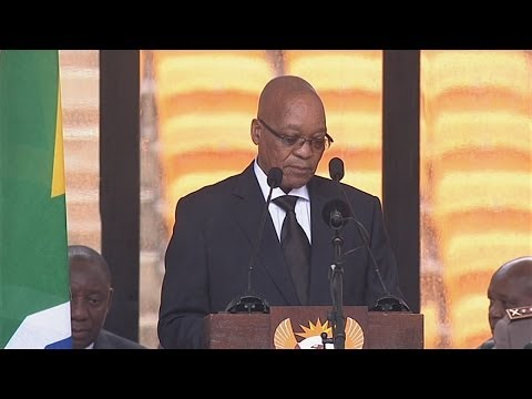 AT - Subscribe to ITN News: http://bit.ly/itnytsub South African President Jacob Zuma was booed as he prepared to speak at a memorial to Nelson Mandela at the FNB...