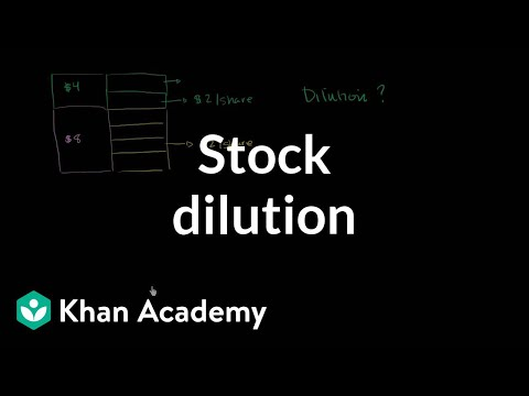 Stock dilution (video)   Stocks and bonds   Khan Academy