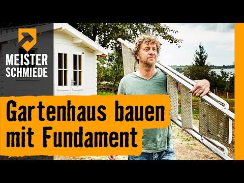 Gartenhaus bauen mit Fundament | HORNBACH Meisterschmiede