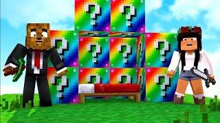 *Glitched Lucky Block Mod* 4 Player Minecraft Modded Money Wars - Minecraft Modded Minigame