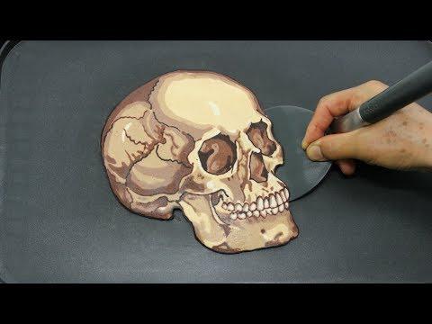 Skull Pancake Art