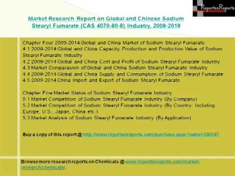 Global and Chinese Sodium Stearyl Fumarate Industry CAS 4070 80 8 2019