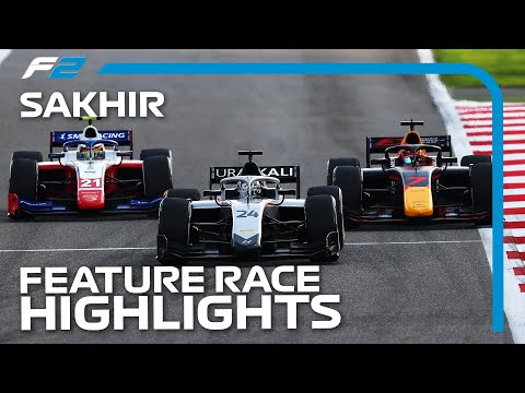 F2 Feature Race Highlights | 2020 Sakhir Grand Prix